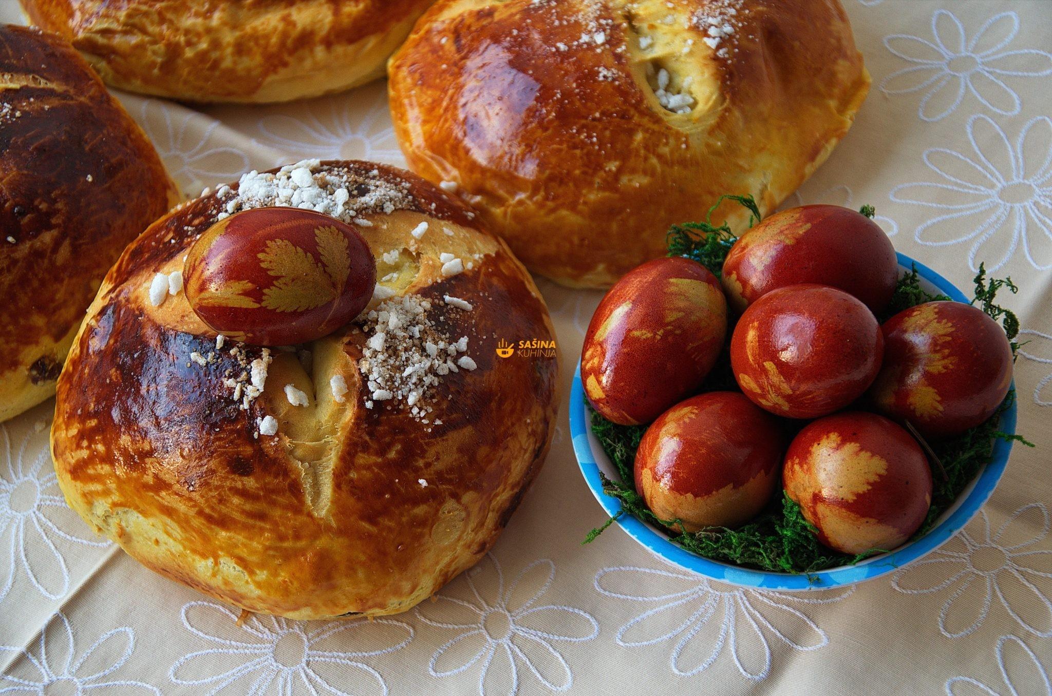 Pinca recept i pisanice obojana jaja za Uskrs