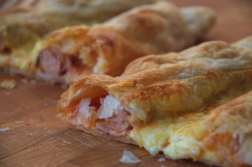 VIDEO – Cheese Bacon Sausage Rolls Lisnate Rolice