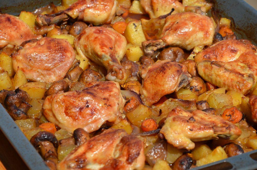 Peka kod kuće recept sa piletinom i povrćem