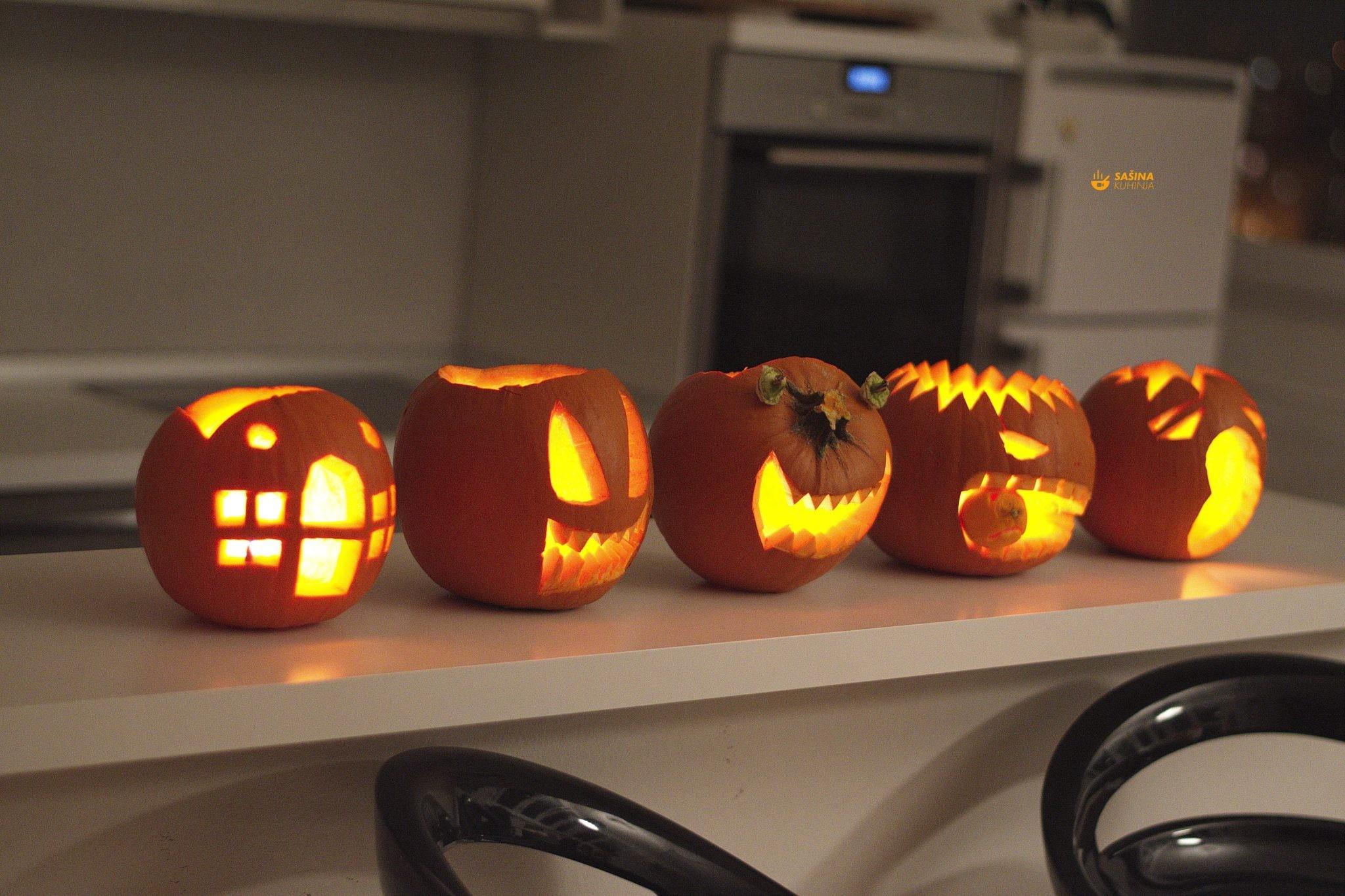 Kako izrezbariti bundevu tikvu buču za noć vještica ili halloween