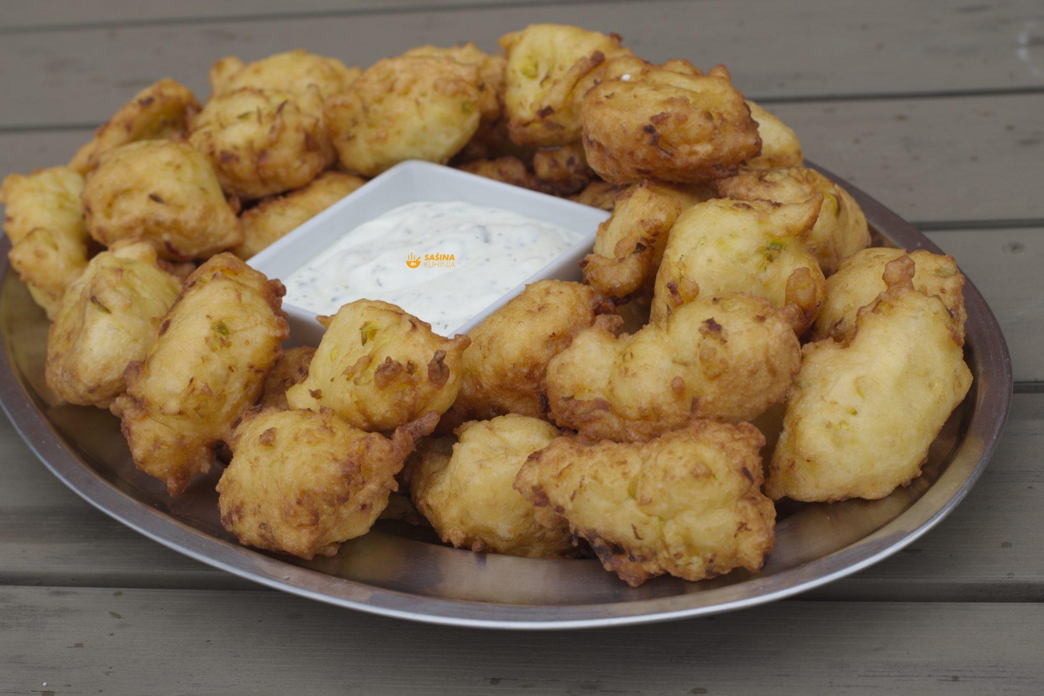 uštipci slani sa sirom i tikvicama