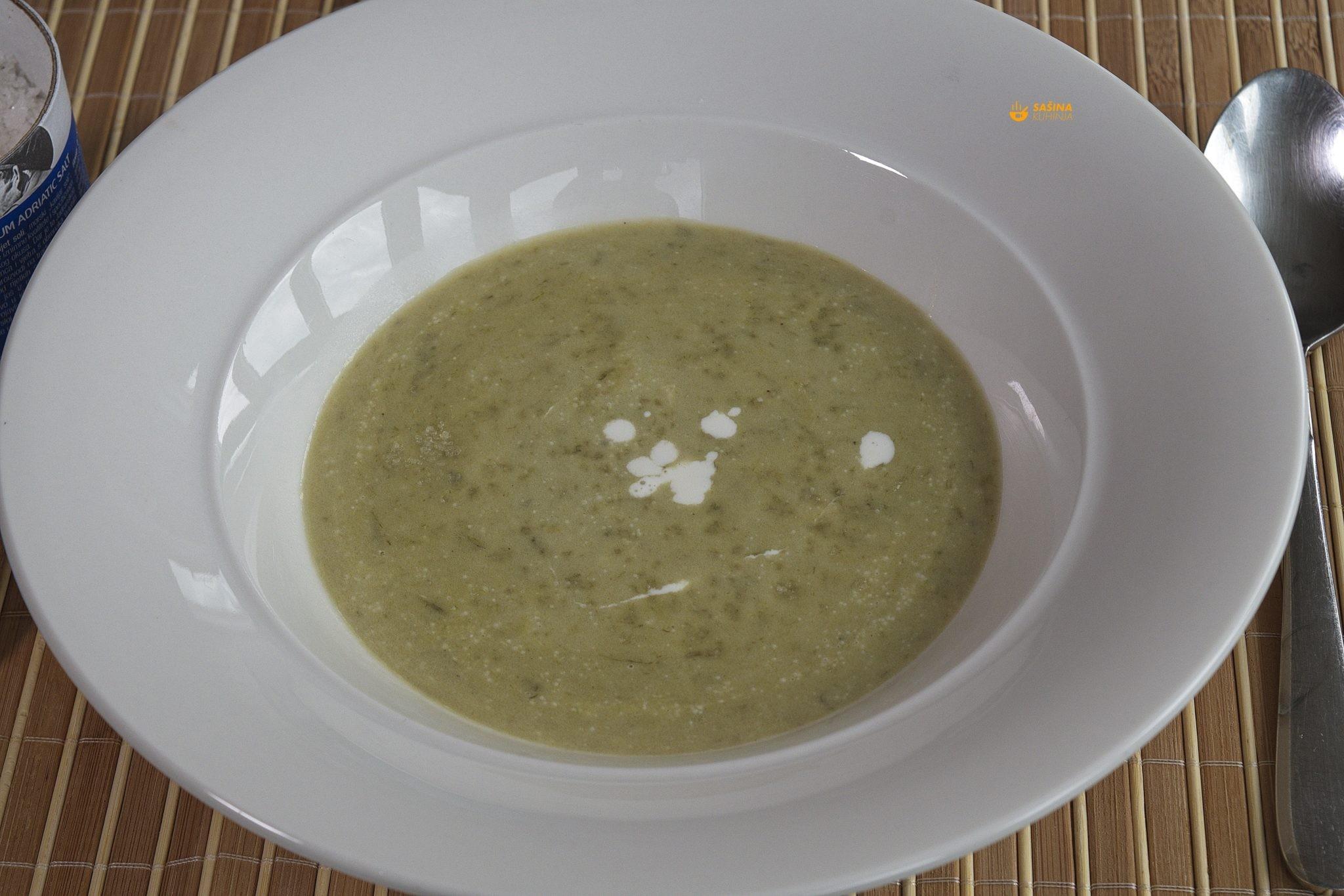 krem juha sa mladim lukom recept
