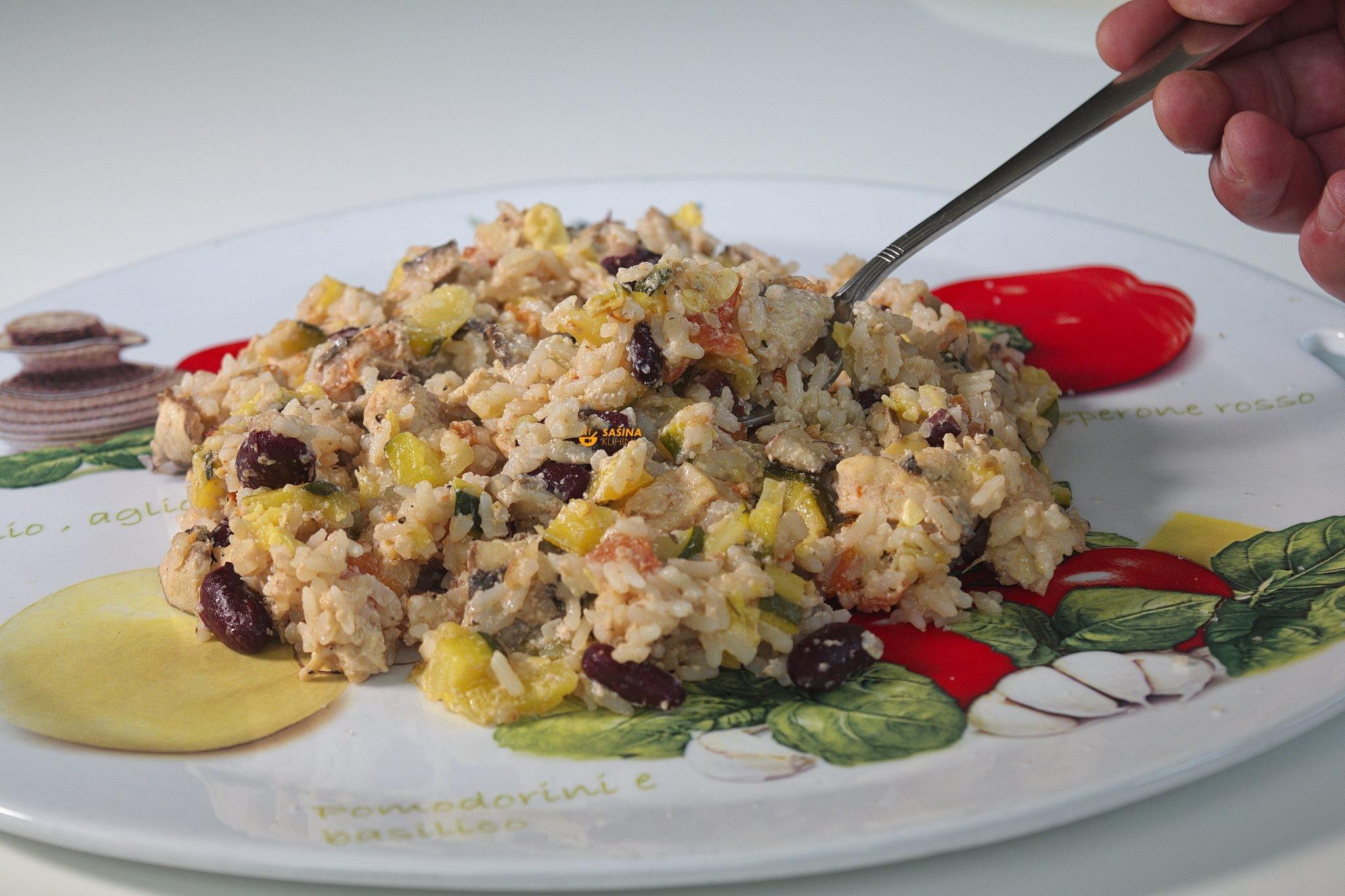 kremasta riza sa piletinom i povrcem