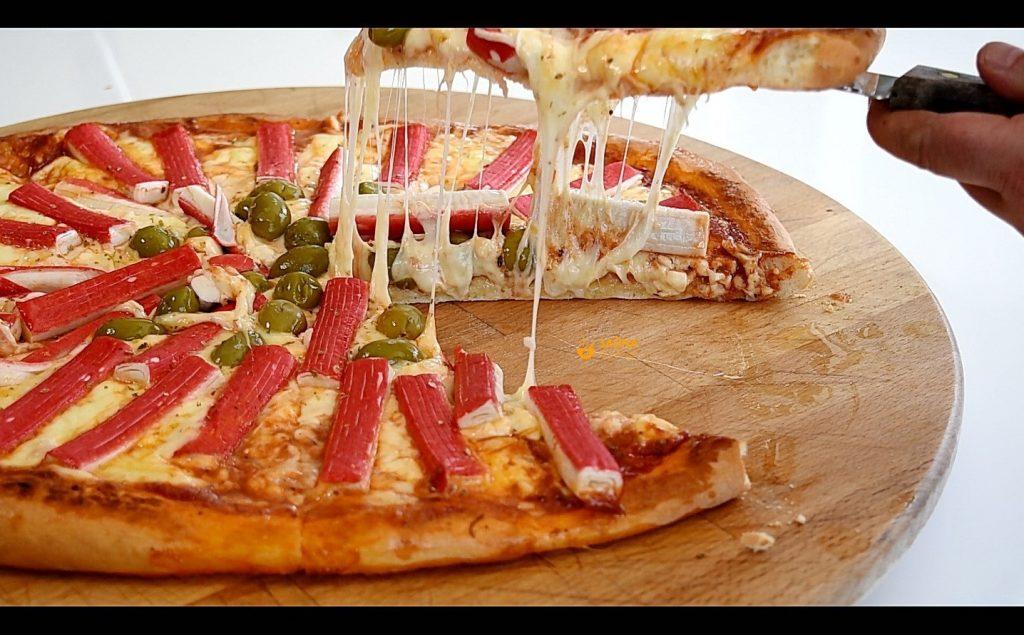 Surimi štapići ideja za obrok pizza