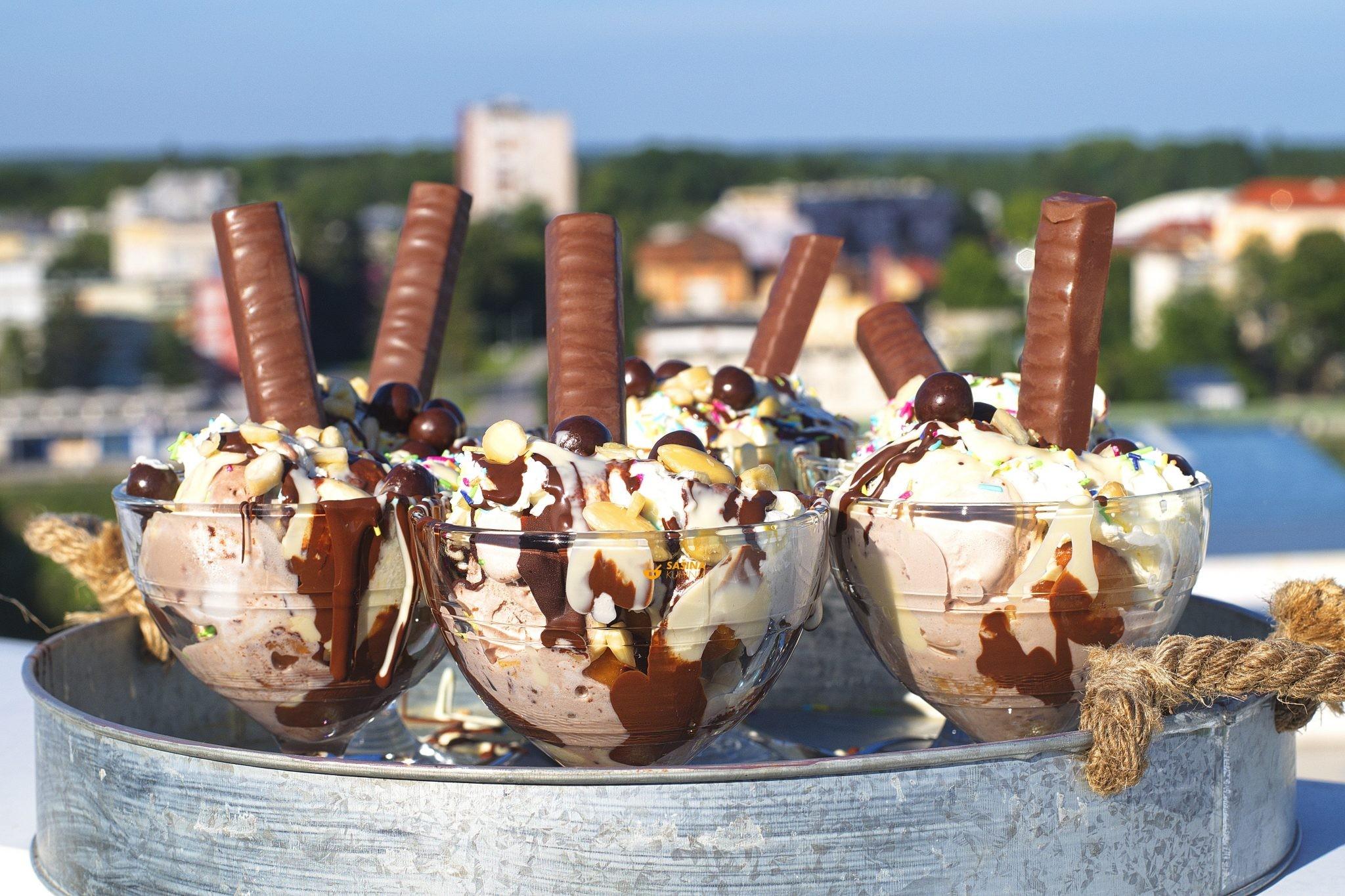 sladoledni kup sa mini krafnicama recept