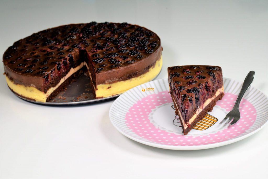 Torta sa kupinama i čokoladom (mogu i jagode)