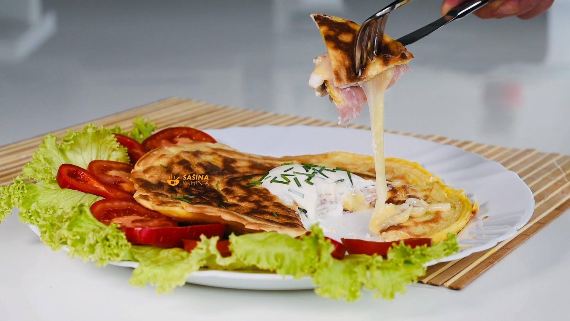 punjene palacinke sunkom sirom stuffed ham cheese crepes