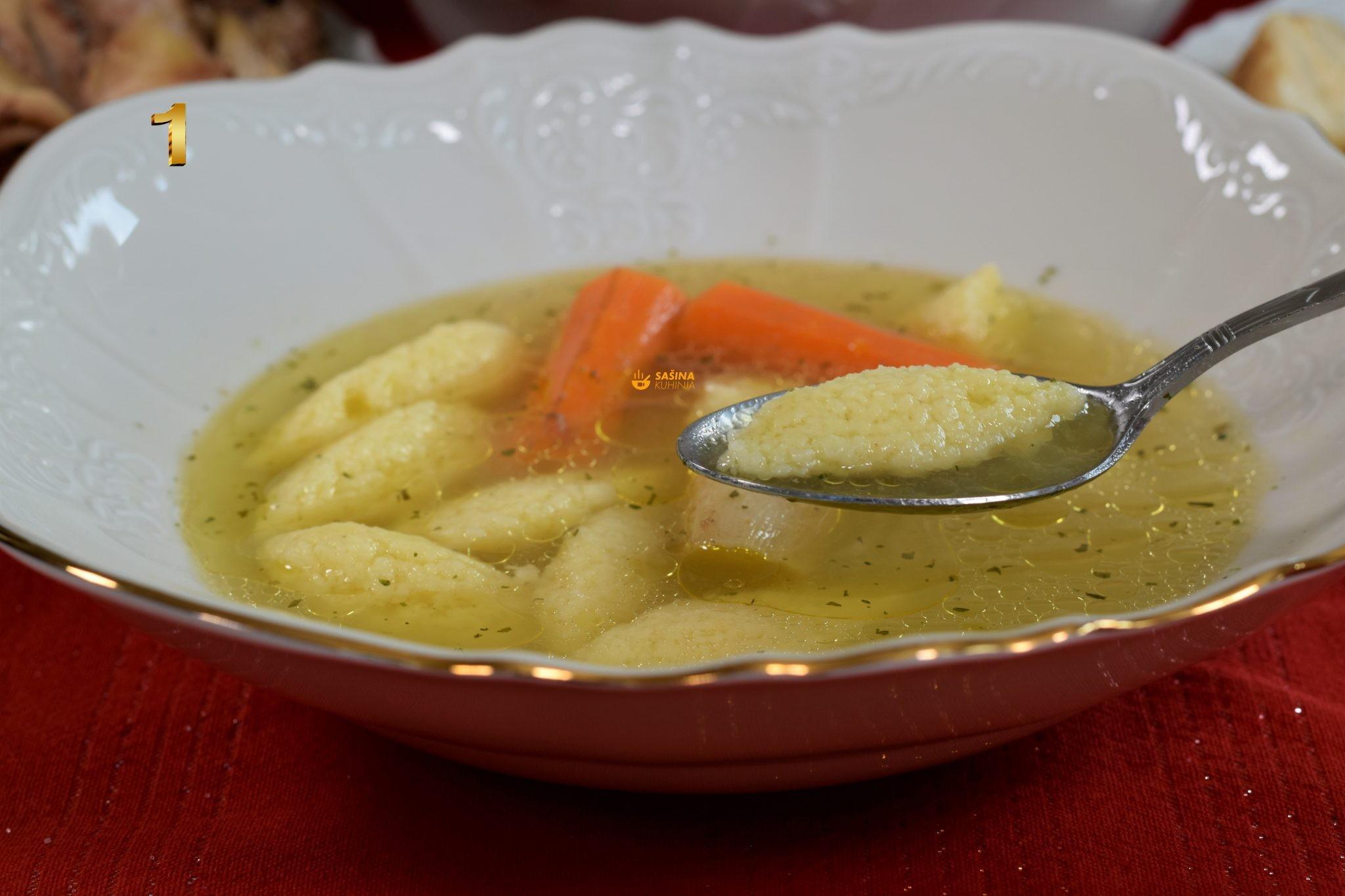 pileća juha griz noklice