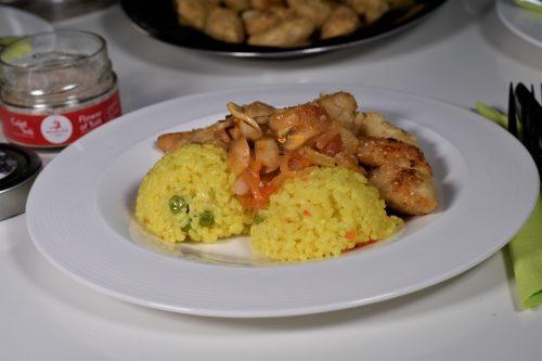 Pohana piletina iz pećnice i riža sa povrćem