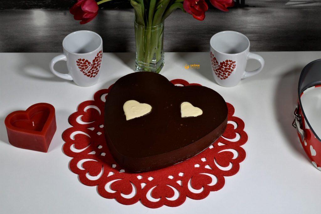 Torta za Valentinovo Dan zaljubljenih