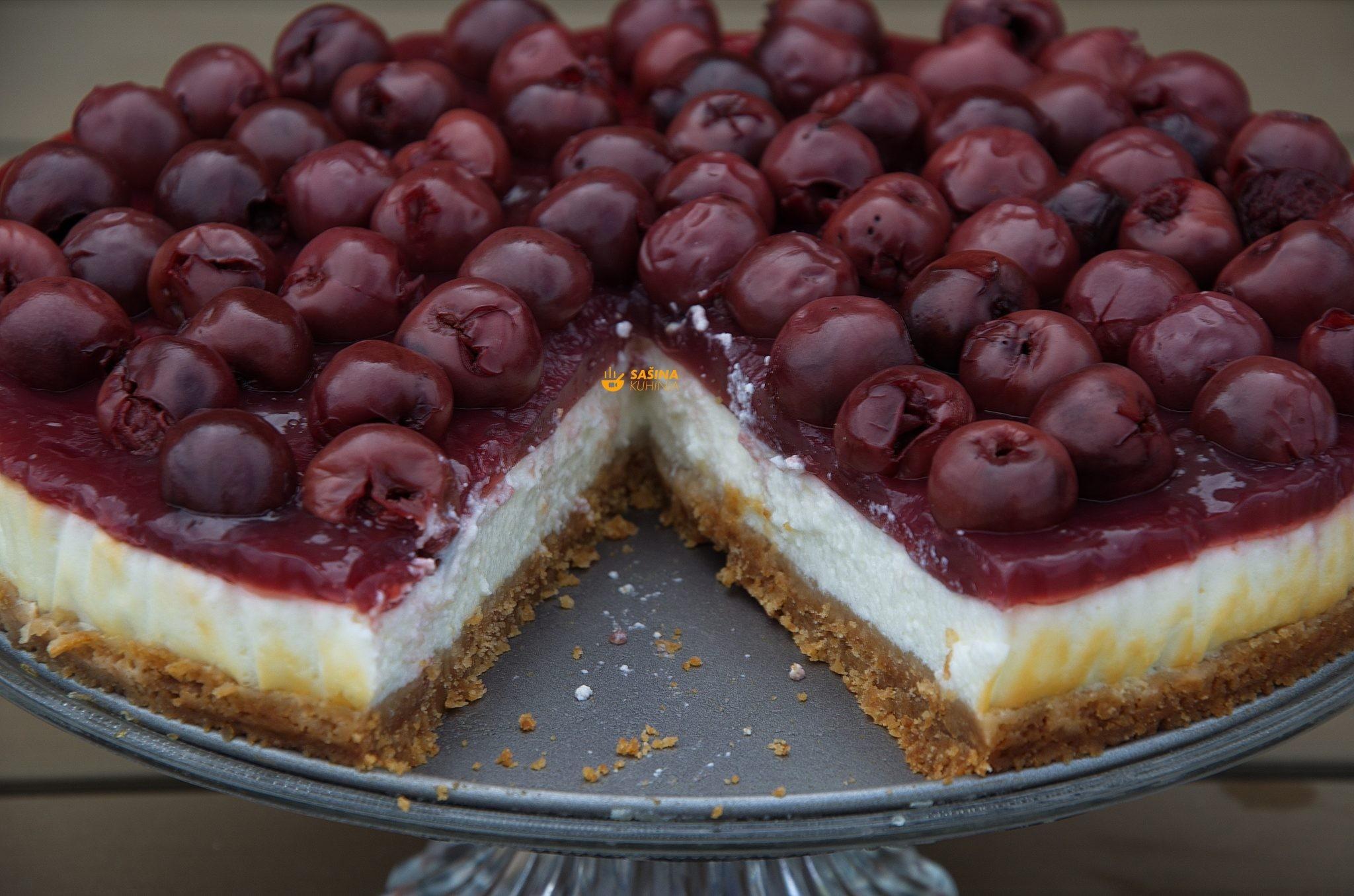 cheesecake sa kompotom od višanja