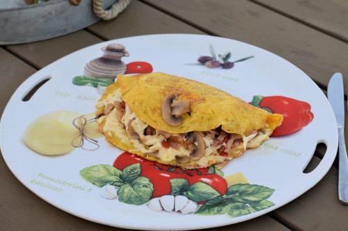 Omlet sendvič recept