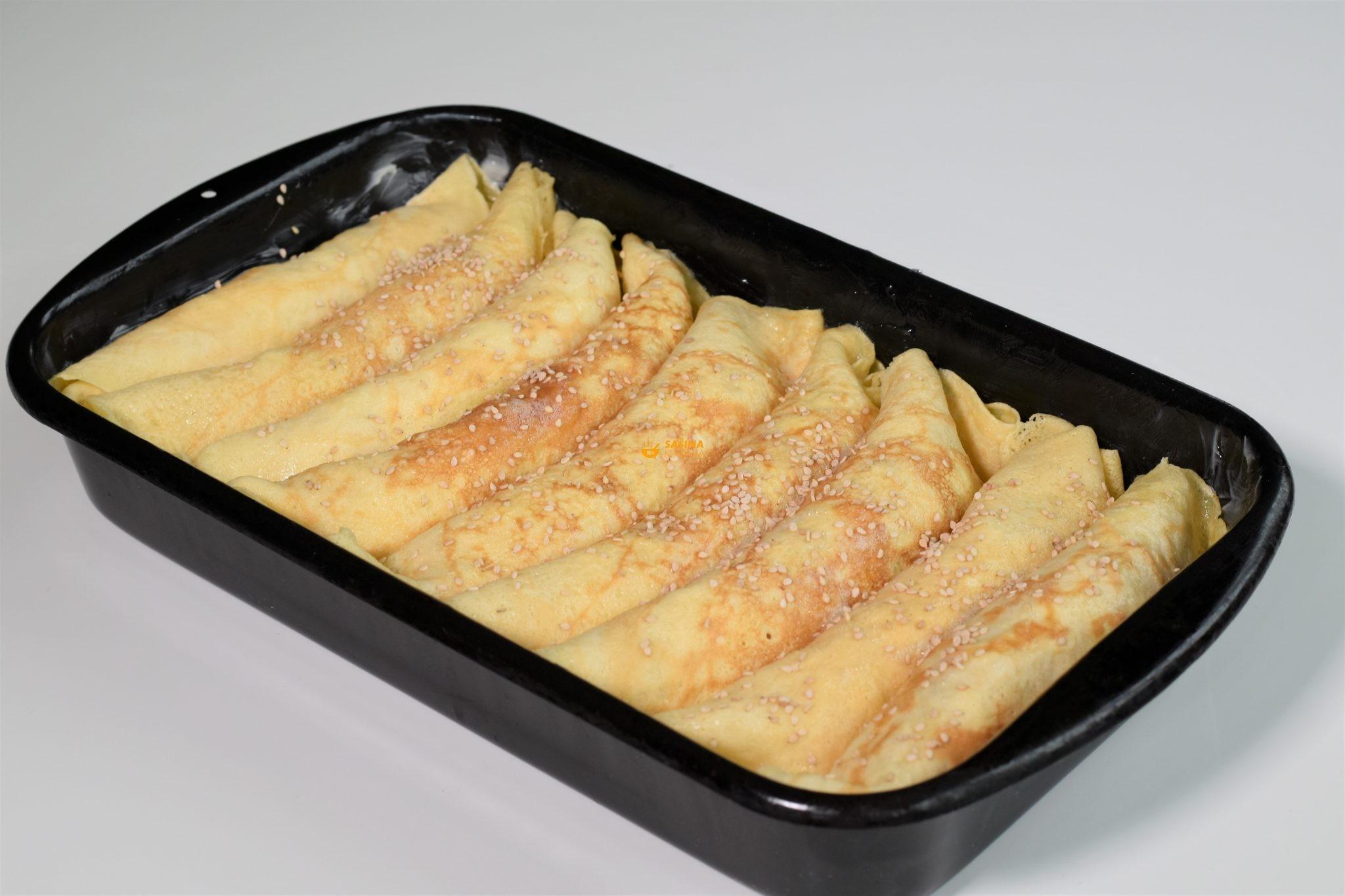 zapačene palačinke punjene šunkom i sirom