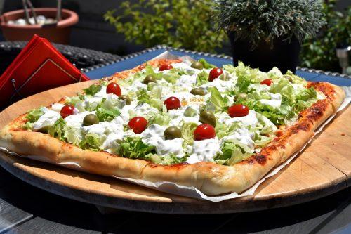 Gyros pizza recept