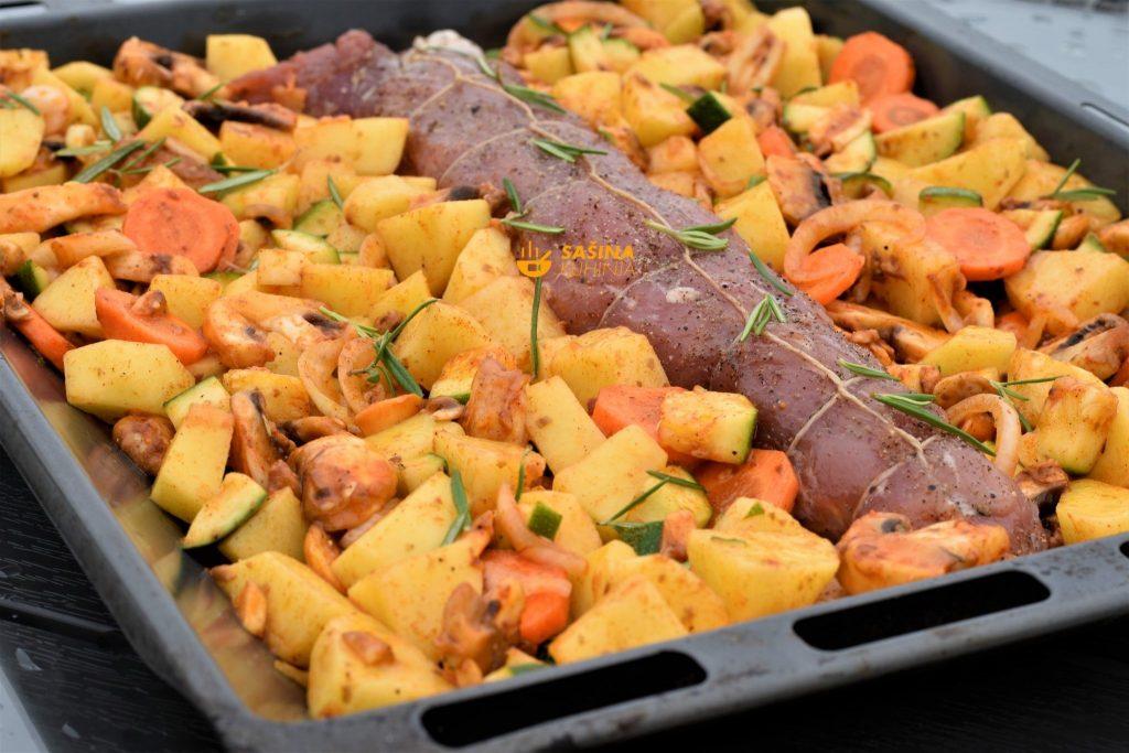 Lungić iz pećnice sa krumpirima i povrćem