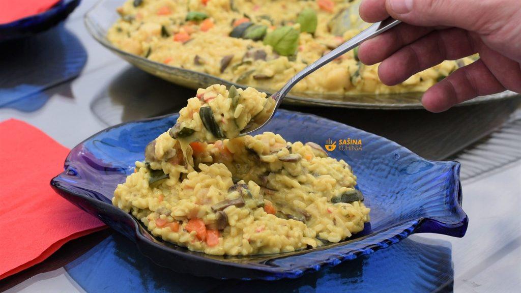 Kremasti rižoto sa plodovima mora