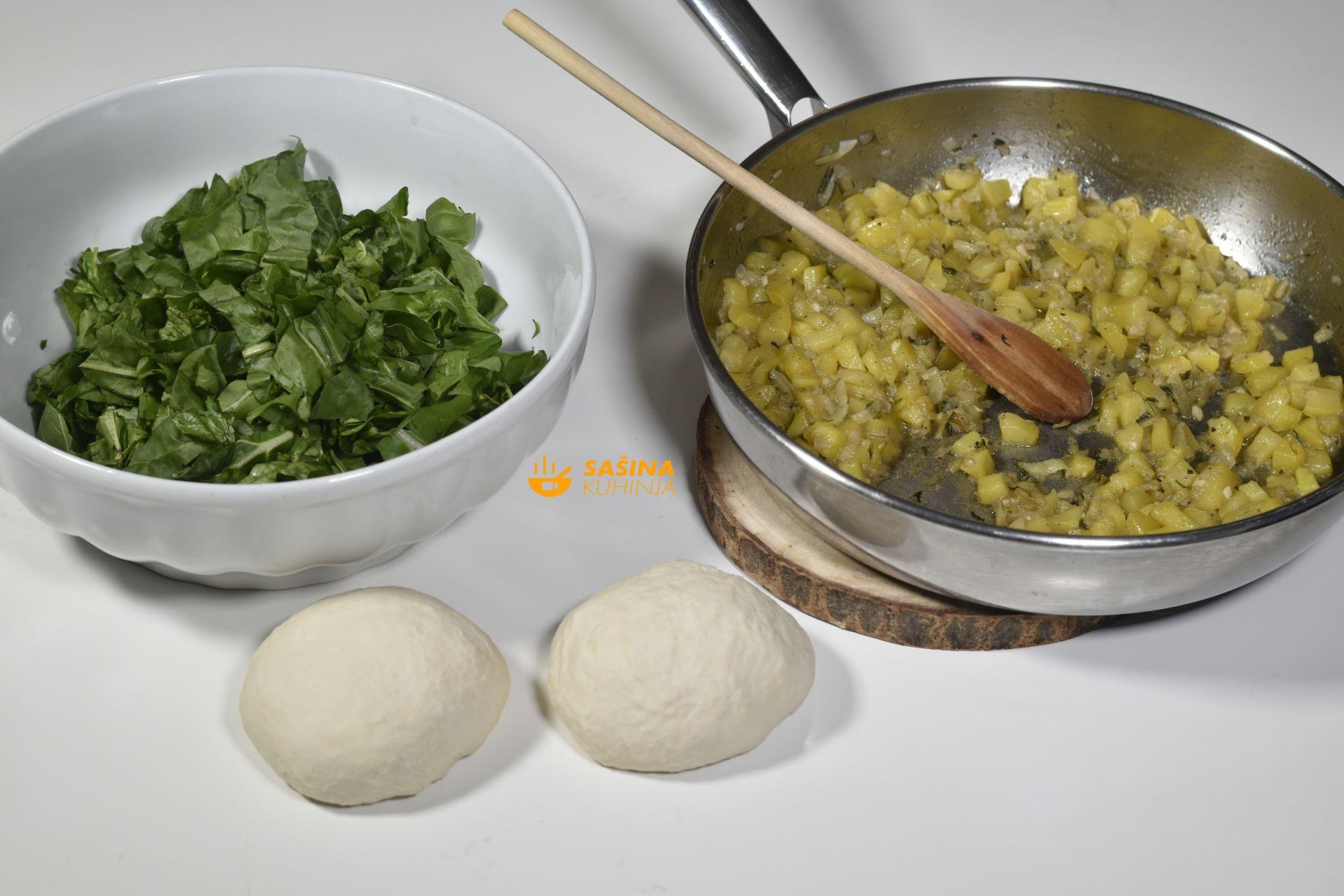 Šeširko vegetarijanski sendvić sa blitvom i krumpirom recept