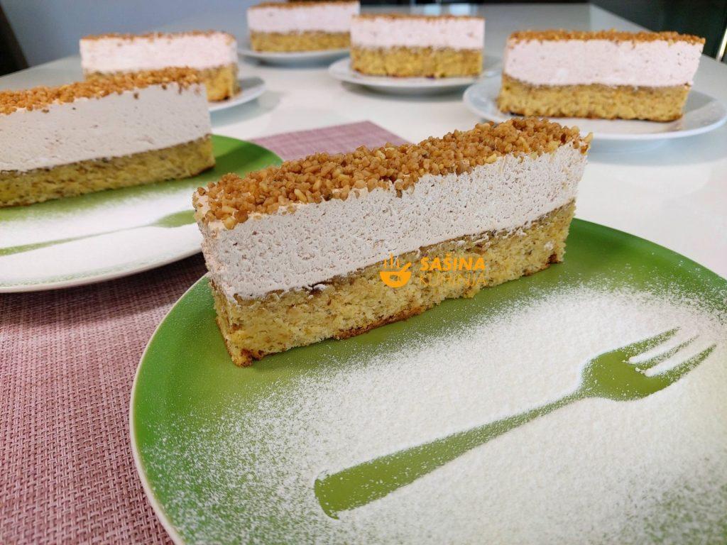 Gluten Free torta bez brašna sa lješnjacima i bijelom čokoladom