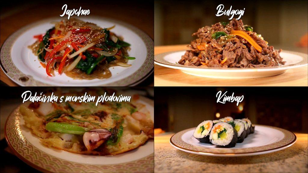 Korejska hrana recepti Japchae Bulgogi Kimbap Palačinka
