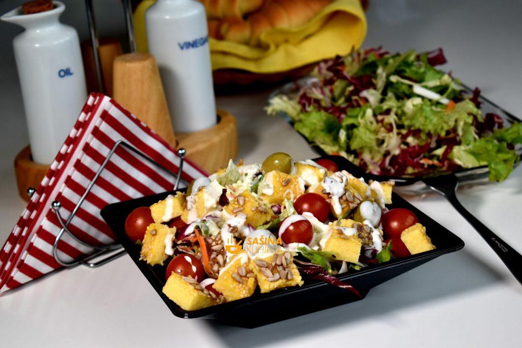 Dresing za salatu salata zapečena instant palenta
