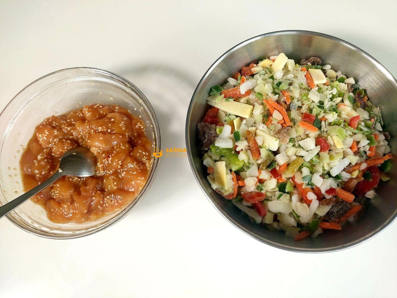 piletina na kineski sa povrćem recept