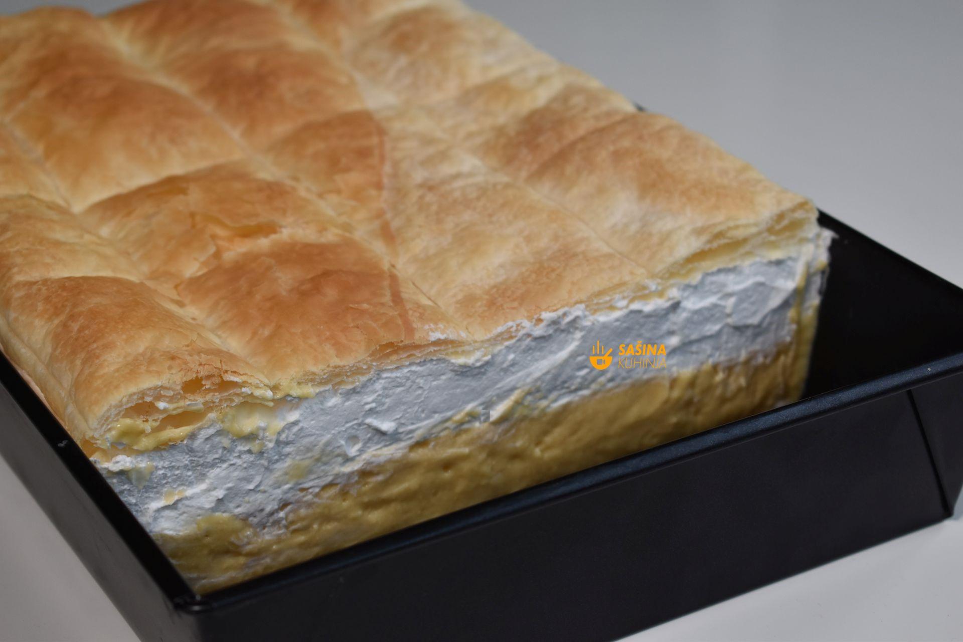 kremšnite krempita bez laktoze Alpro kolač recept