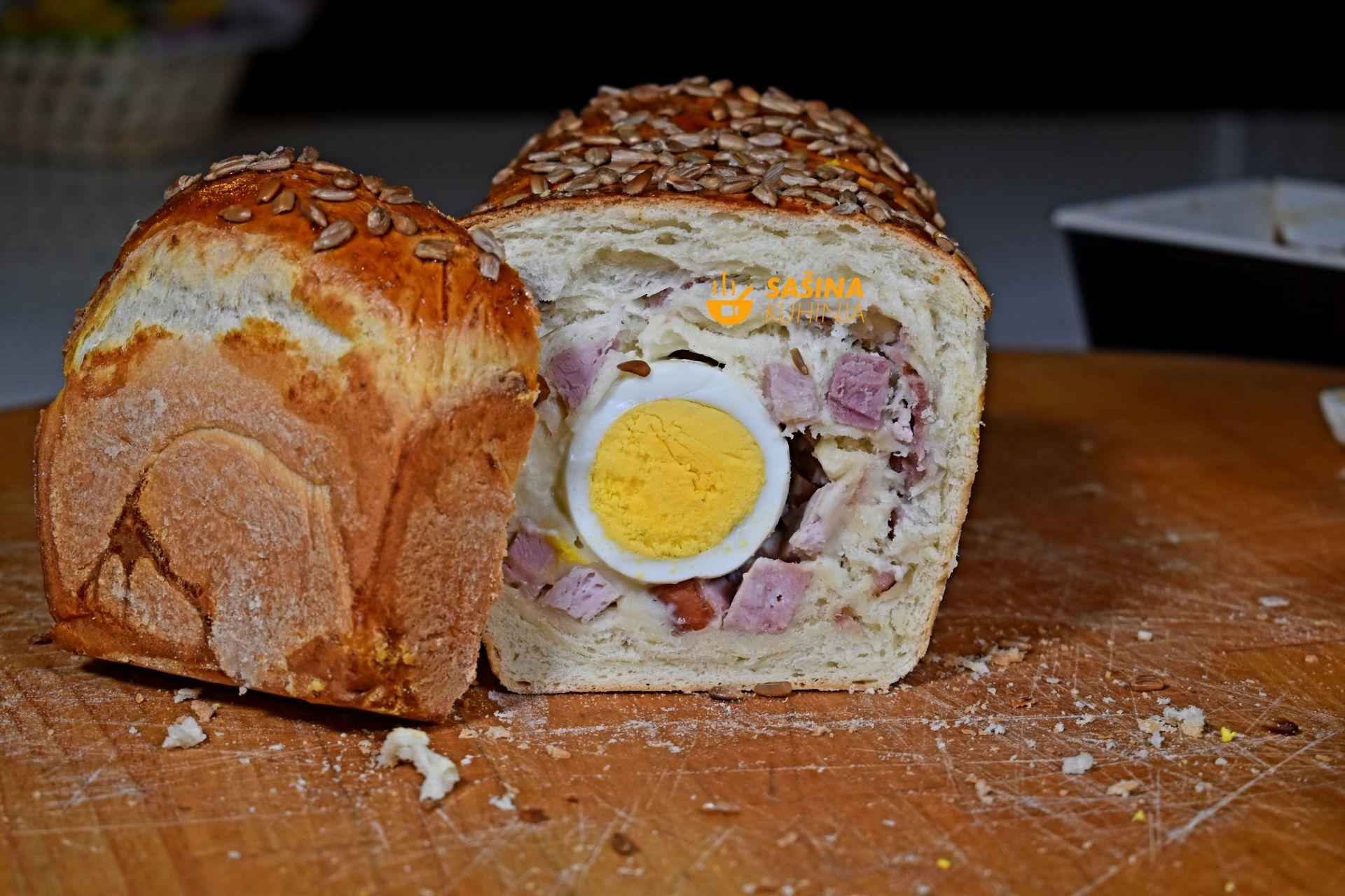 šunka u kruhu sa jajima