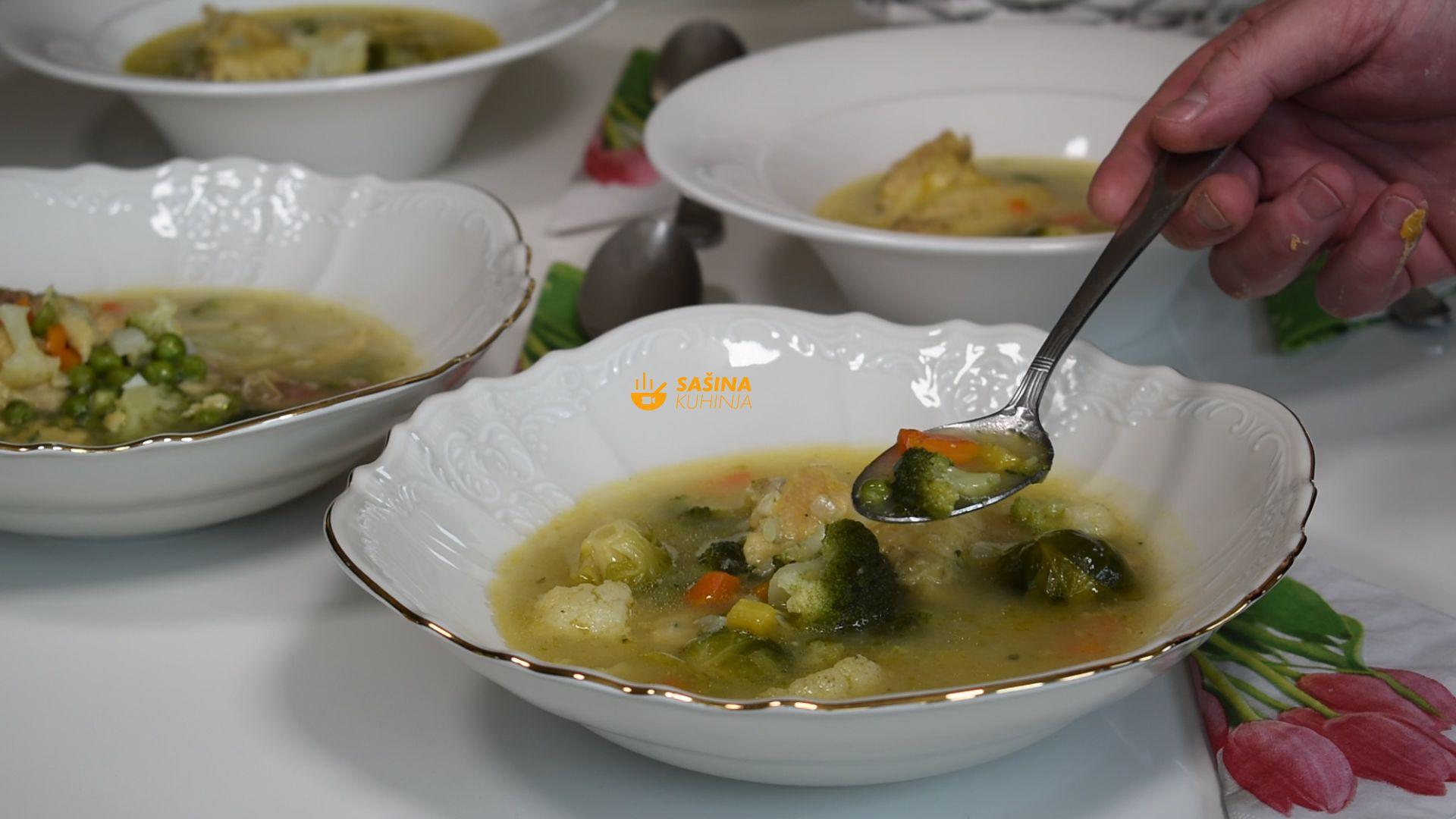 varivo sa piletinom i hrpom povrća noklice grašak recept