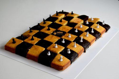 Šah mat kolač šahovska ploča recept