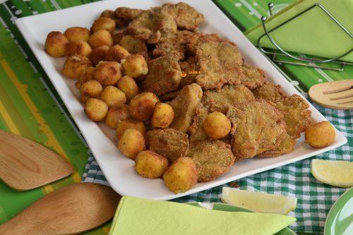 Kroketi od pire krumpira pohane bukovače umaci