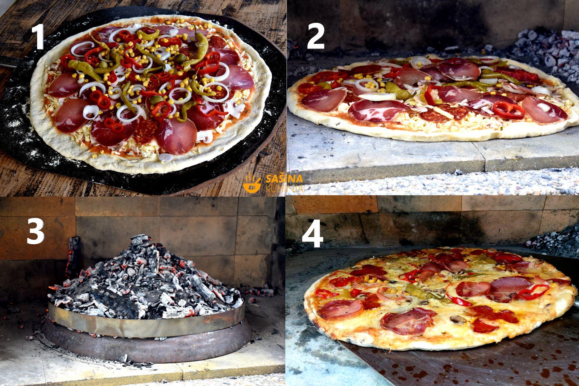 Pizza pod pekom ili ispod peke asmr recept za pizzu