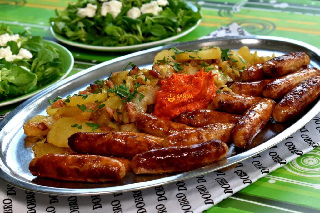 Restani krumpir sa kupusom i slaninom recept