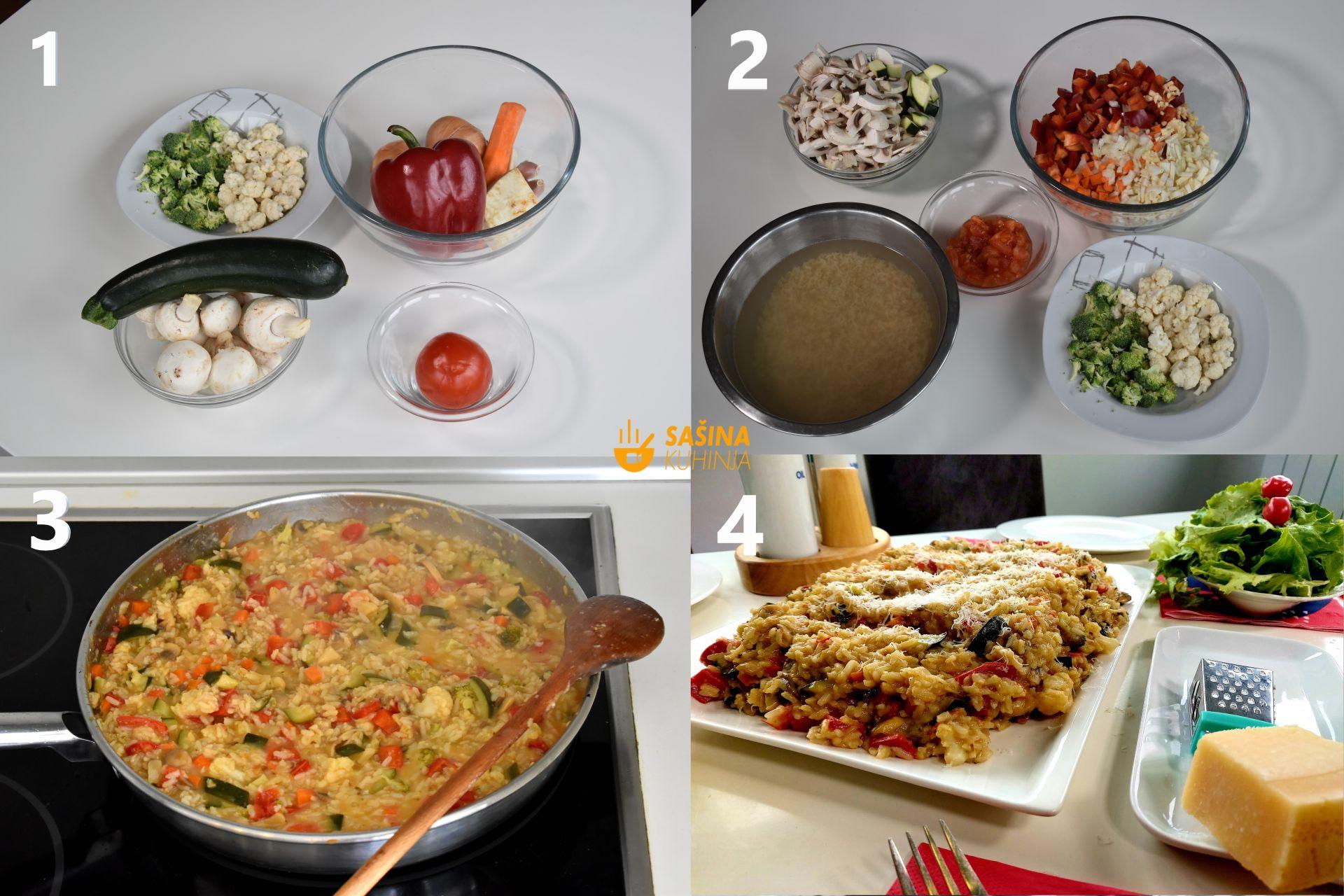 vegetarijanski rižoto od puno povrća sa integralnom rižom recept