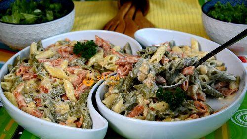 Brza tjestenina s piletinom i plavim sirom recept