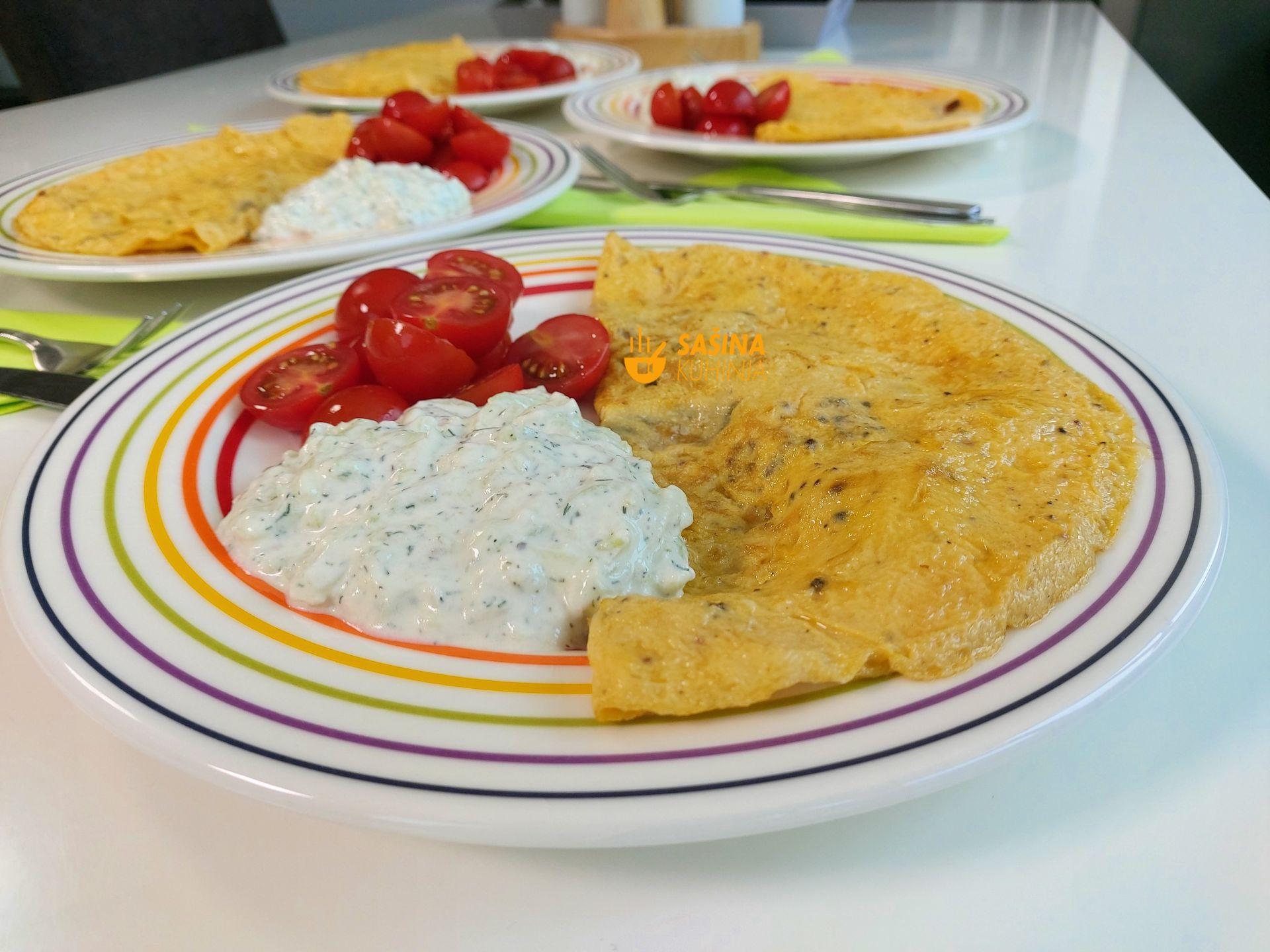 dobar omlet recept sašina kuhinja omlet sa sampinjonima sirom i slaninom ili pancetom