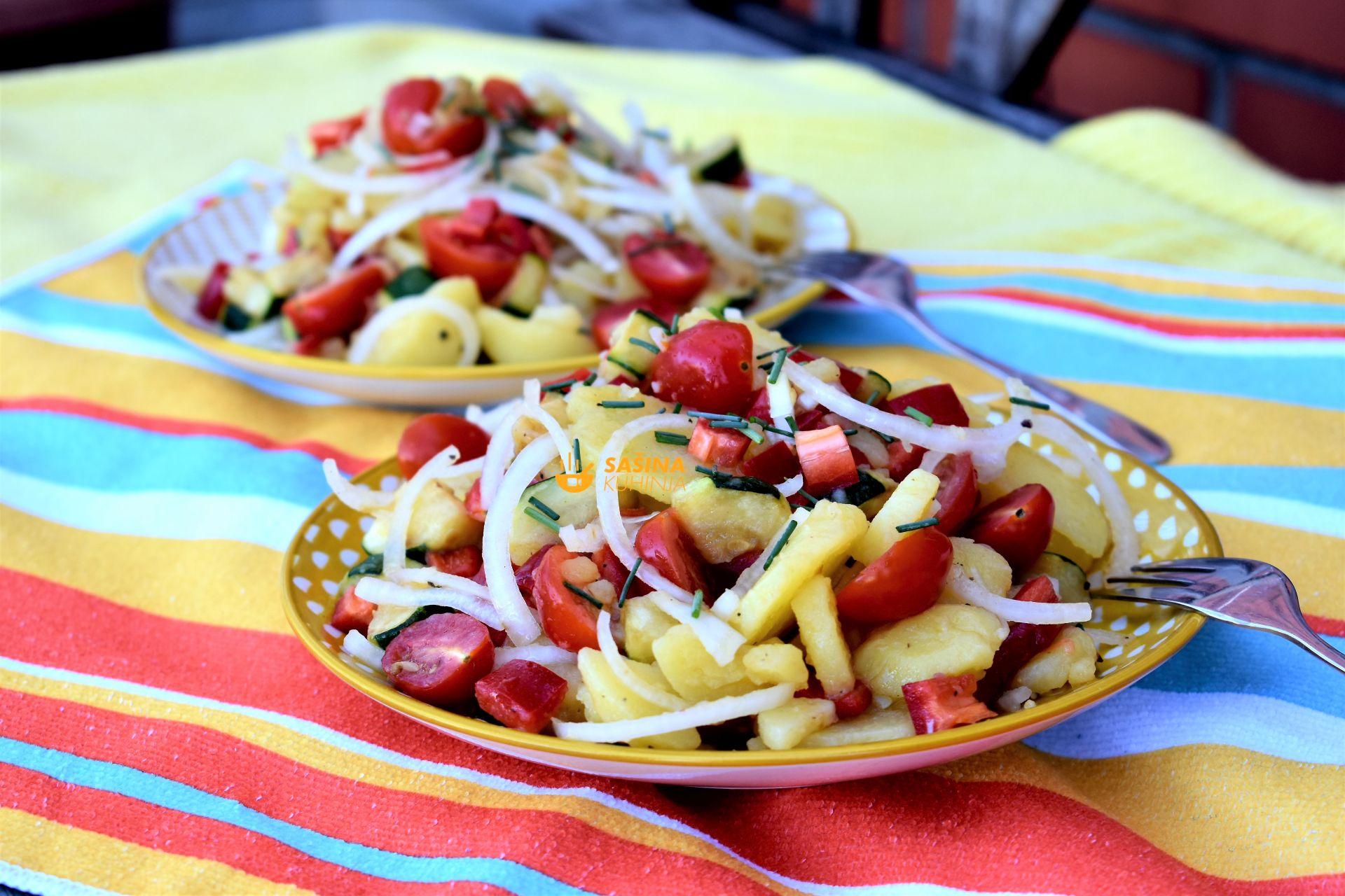krumpir salata s tikvicama recept