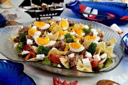 Salata od tune tjestenine i povrća recept