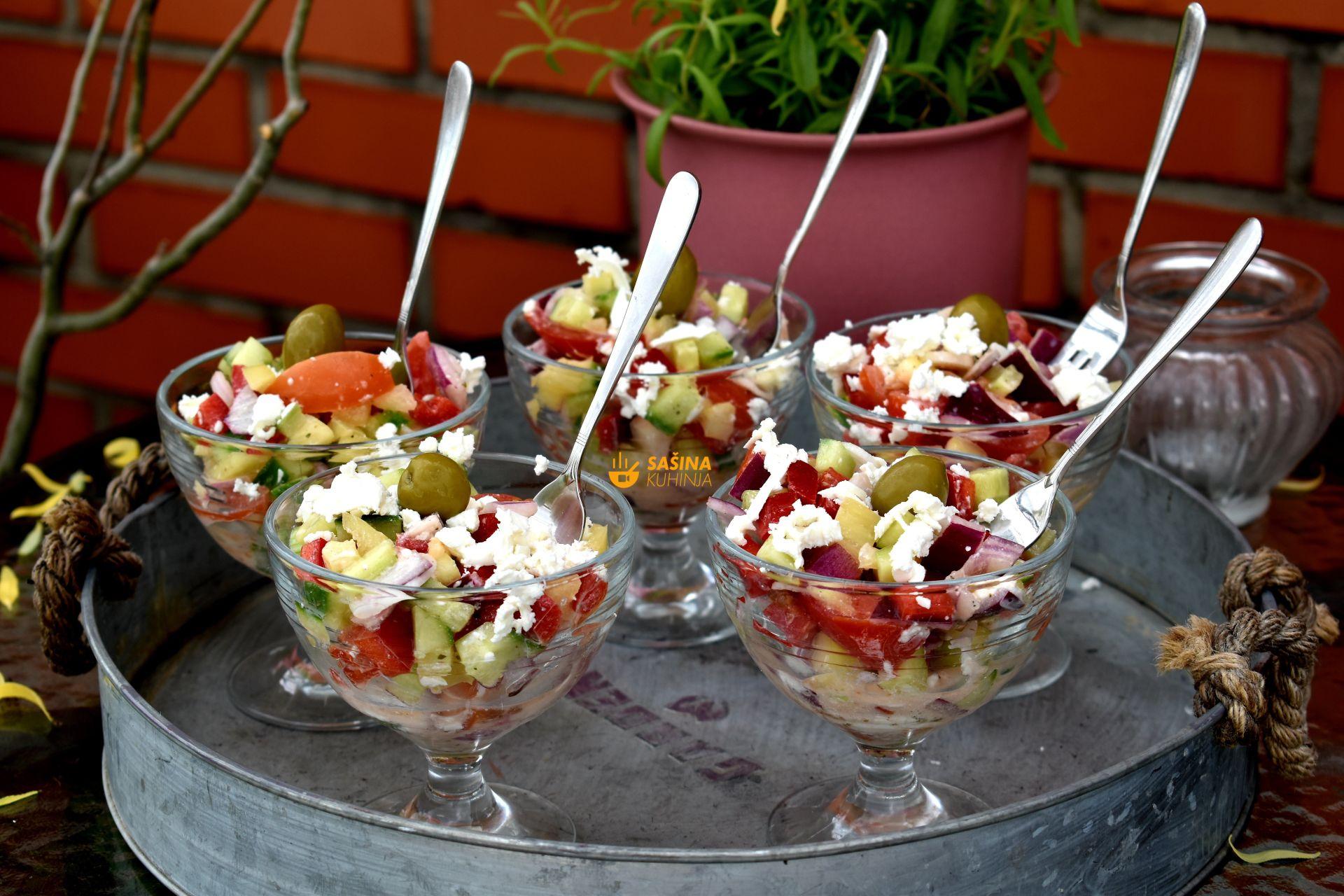 šopska salata recept