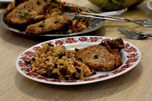 Krmenadli s rižom i povrćem iz pećnice