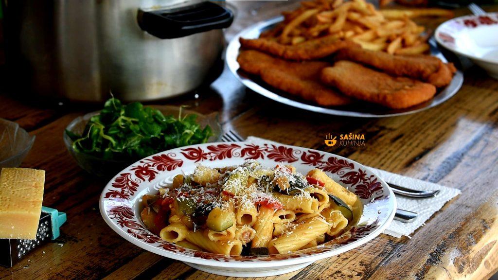 One pot vege pasta tjestenina iz jednog lonca