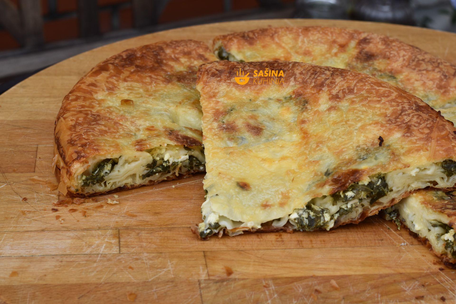 pita od sira i špinata recept