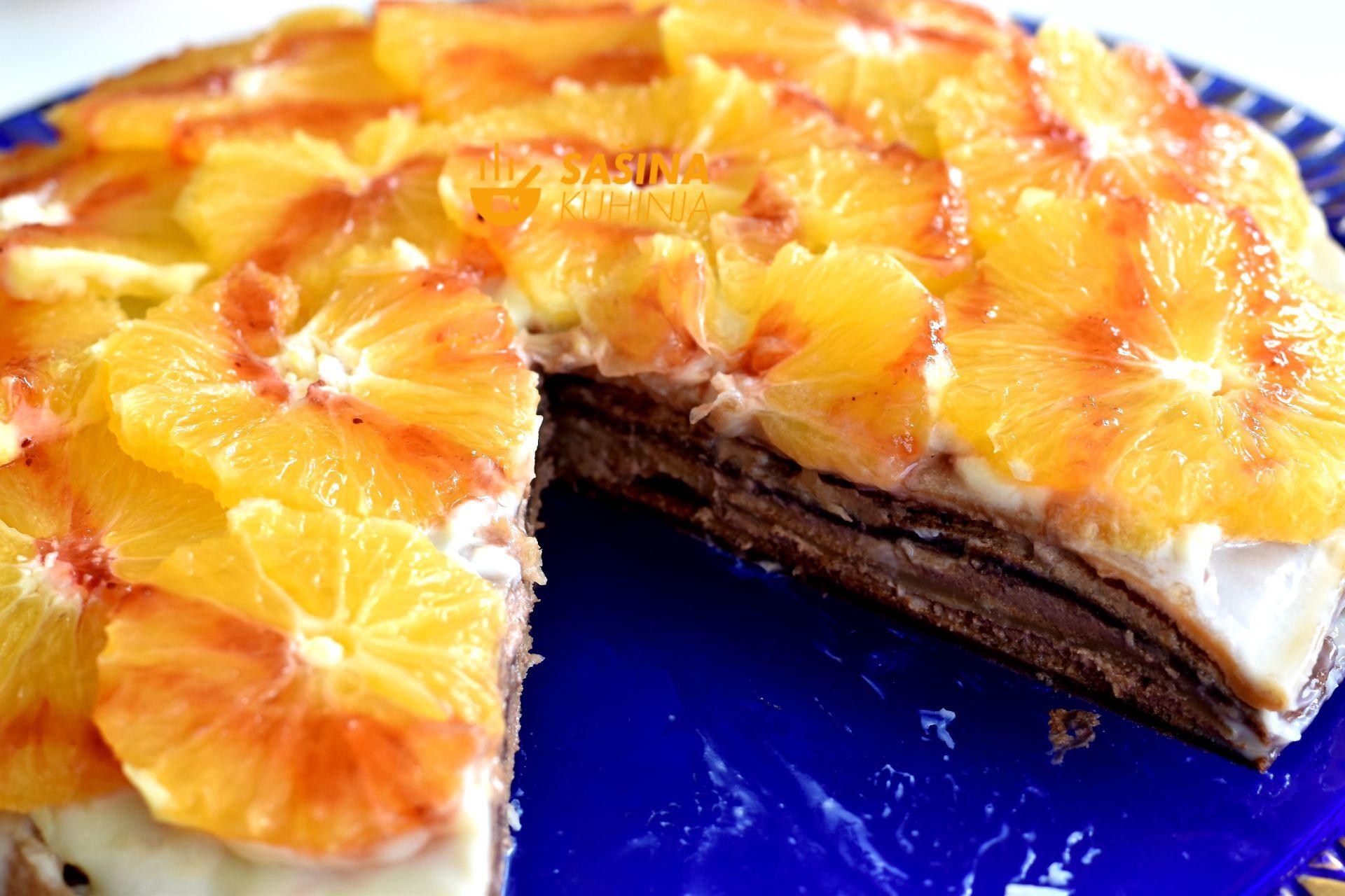 Keksočinke palačinke s keksima čokoladom i narančama recept za odličan brz desert